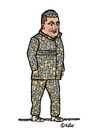 Cartoon: Petro Poroschenko (small) by Pascal Kirchmair tagged petro,poroschenko,karikatur,caricature,cartoon,dessin,humour,zeichnung,portrait,ukraine,russland,krieg,konflikt,tarnanzug