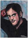 Cartoon: Quentin Tarantino (small) by Pascal Kirchmair tagged quentin tarantino portrait retrato ritratto dibujo caricature karikatur desenho drawing dessin cartoon illustration hollywood filmmaker regisseur screenwriter actor schauspieler