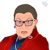 Cartoon: Ruth Bader Ginsburg (small) by Pascal Kirchmair tagged dissent,supreme,court,justice,usa,ruth,bader,ginsburg,rbg,politicien,politiker,politician,femme,politique,dibuix,illustration,drawing,zeichnung,pascal,kirchmair,cartoon,caricature,karikatur,ilustracion,dibujo,desenho,ink,disegno,ilustracao,illustrazione,illustratie,dessin,de,presse,du,jour,art,of,the,day,tekening,teckning,cartum,vineta,comica,vignetta,caricatura,portrait,porträt,portret,retrato,ritratto,united,states