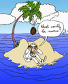 Cartoon: Schiffbrüchiger (small) by Pascal Kirchmair tagged katastrophe,catastrophe,schiffbruechiger,gestrandeter,einsame,insel,island,isle,ile,robinson,crusoe