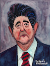 Cartoon: Shinzo Abe (small) by Pascal Kirchmair tagged shinzo,abe,karikatur,prime,minister,japan,japon,japao,cartoon,portrait,drawing,retrato,illustration,ilustracion,caricature,pascal,kirchmair,zeichnung,dibujo,desenho,dessin,ilustracao,ritratto