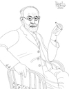 Cartoon: Sigmund Freud (small) by Pascal Kirchmair tagged sigmund,freud,psicoanalisi,analisi,psychanalyse,psicoanalisis,psychoanalysis,psychoanalyse,author,autor,autore,auteur,illustration,drawing,zeichnung,pascal,kirchmair,cartoon,caricature,karikatur,ilustracion,dibujo,desenho,ink,disegno,ilustracao,illustrazione,illustratie,dessin,de,presse,du,jour,art,of,the,day,tekening,teckning,cartum,vineta,comica,vignetta,caricatura,portrait,porträt,portret,retrato,ritratto,wien,austria,österreich,habsburger,monarchie