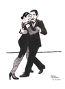 Cartoon: Tango Argentino (small) by Pascal Kirchmair tagged tango argentino buenos aires cartoon caricature karikatur tanz dance ballo danza argentinien