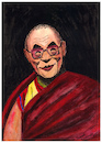 Cartoon: Tenzin Gyatso - 14th Dalai Lama (small) by Pascal Kirchmair tagged 14 dalai lama tenzin gyatso prix premio nobel peace prize preis 1989 caricature karikatur karikatür drawing illustration portrait retrato pascal kirchmair dibujo zeichnung disegno dessin desenho illustrazione ilustracao ilustracion ritratto tibet china religion