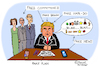 Cartoon: The Fake President (small) by Pascal Kirchmair tagged donald trump fake news president caricature cartoon karikatur humor humour vignetta dessin drawing dibujo desenho disegno zeichnung usa präsident