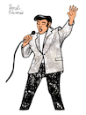 Cartoon: THE KING (small) by Pascal Kirchmair tagged rockabilly,fusion,country,musik,rhythm,and,blues,elvis,aaron,presley,memphis,tennessee,januar,january,janvier,1935,in,tupelo,mississippi,singer,the,king,of,rock,roll,pop,cartoon,caricature,karikatur,ilustracion,illustration,pascal,kirchmair,dibujo,desenho,drawing,zeichnung,disegno,ilustracao,illustrazione,illustratie,dessin,de,presse,du,jour,art,day,tekening,teckning,cartum,vineta,comica,vignetta,caricatura,humor,humour,portrait,retrato,ritratto,portret,porträt,artiste,artista,artist,usa,cantautore,music,musique,jail,house,love,me,tender,nothing,but,hound,dog,no,friend,mine