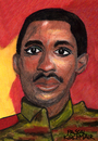 Cartoon: Thomas Sankara (small) by Pascal Kirchmair tagged thomas sankara caricature cartoon karikatur dessin peinture portrait aquarell burkina faso