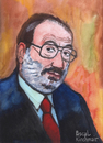 Cartoon: Umberto Eco (small) by Pascal Kirchmair tagged umberto eco portrait karikatur caricature disegno aquarell italia schriftsteller scrittore ecrivain italien mailand milano