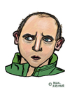 Cartoon: Viktor Skripnik (small) by Pascal Kirchmair tagged viktor,skripnik,werder,bremen,ukrainischer,trainer,cartoon,karikatur,caricature,portrait