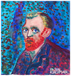 Cartoon: Vincent van Gogh (small) by Pascal Kirchmair tagged pascal,kirchmair,vincent,van,gogh,cartoon,caricature,karikatur,watercolour,aquarell,vignetta,aquarelle,cuadro,quadro,bild,imagen,image,acquarello,acquerello,aquarela,acuarela