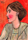 Cartoon: Virginia Woolf (small) by Pascal Kirchmair tagged pascal,kirchmair,who,is,afraid,wer,hat,angst,vor,virginia,woolf,portrait,retrato,ritratto,drawing,dibujo,desenho,disegno,illustration,ilustracion,ilustracao,illustrazione,illustratie,zeichnung,dessin,du,jour,art,of,the,day,tekening,teckning,cartum,cartoon,vineta,comica,vignetta,caricature,caricatura,karikatur