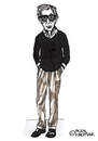 Cartoon: Woody Allen (small) by Pascal Kirchmair tagged woody,allen,karikatur,caricature,cartoon,portrait,komiker,comedian,actor,regisseur,film,director,producer,usa,new,york,manhattan
