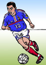 Cartoon: Zinedine Zidane (small) by Pascal Kirchmair tagged zizou zidane zinedine fff equipe de france foot champion du monde