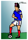 Cartoon: Zinedine Zidane (small) by Pascal Kirchmair tagged nummer,10,mannschaft,kapitän,napoleon,star,zehn,spielführer,taktik,sport,portrait,zinedine,zidane,foot,fußball,vision,jeu,caricature,karikatur