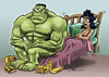 Cartoon: hulk (small) by pali diaz tagged hulk,viagra