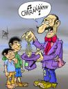 Cartoon: mago (small) by pali diaz tagged magician,poor,children