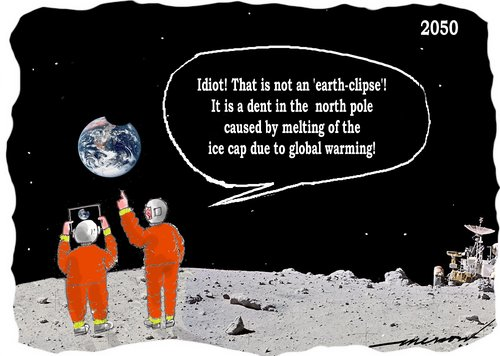 Cartoon: earth-clipse (medium) by kar2nist tagged eclipse,earth,moon