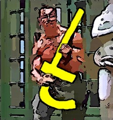 Cartoon: I am back    on the facebook (medium) by kar2nist tagged movies,schwartzenegger,facebook,commando,weapon