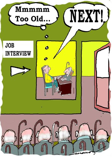 Cartoon: job interview (medium) by kar2nist tagged interview,job,old,age,candidates
