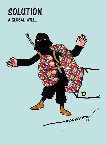 Cartoon: terrorism (medium) by kar2nist tagged terrorism,world,fight