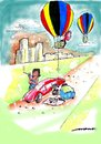 Cartoon: A Helping Hand (small) by kar2nist tagged tyre,puncture,hot,air,baloon,help,on,the,road,flat,changing