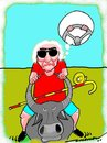 Cartoon: Buffallo Bill (small) by kar2nist tagged blind,buffallo,riding