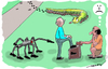 Cartoon: Feet are killing (small) by kar2nist tagged feet,shoeshine,worm,spider