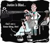 Cartoon: justice is blind (small) by kar2nist tagged justice,eye,test,blind