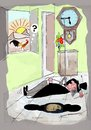 Cartoon: Morning Alarm (small) by kar2nist tagged morning,alarm,rooster,magician,chicken