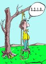 Cartoon: novel suicide (small) by kar2nist tagged suicide,ineffective,death