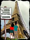 Cartoon: Parisian dilemma (small) by kar2nist tagged eiffel,travel,tourists,sightseeing