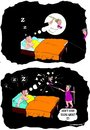 Cartoon: Rude awakening (small) by kar2nist tagged dream,wife,husband,sleeping,bubbles