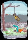 Cartoon: SUICIDE OF A DRUNKARD (small) by kar2nist tagged drink,shivas,regal,suicine,hanging