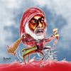 Cartoon: bloodman (small) by Majdoub Abdelwaheb tagged bloodman