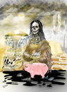 Cartoon: MONA LISA (small) by Majdoub Abdelwaheb tagged pollution