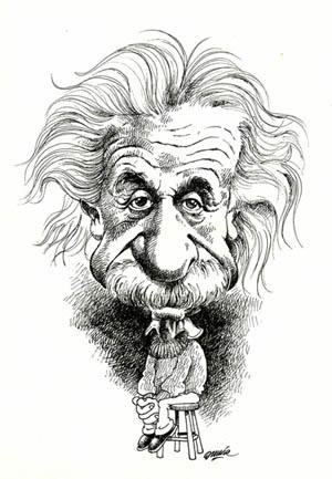 Cartoon: Albert Einstein (medium) by Omar tagged caricatura