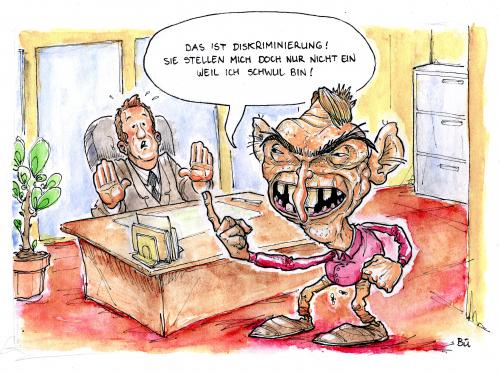 Cartoon diskriminierung medium by bülow tagged gay schwul arbeit