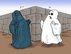 Cartoon: Buuhrka (small) by Bülow tagged burka,islam,muslim,moslem,ghost,gespenst,schreck