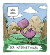 Cartoon: Neue Tierform entdeckt! (small) by Bülow tagged vogel,forschung,ornithologie