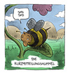 Cartoon: Shortmessagebumblebee (small) by Bülow tagged bumblebee,hummel,sms,handy,mobile,short,message,shortmessage,natur,nature,animalstiere,tierwelt,fauna,insekt,insect,insekten,insects