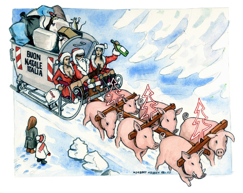 Buon Natale Italia.Buon Natale Italia By Niessen Nature Cartoon Toonpool