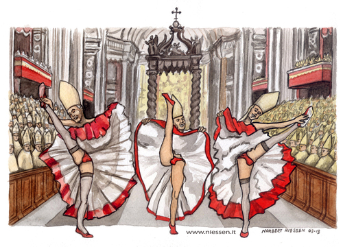 Resultado de imagem para cartoons vaticano