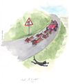 Cartoon: attenti al gatto (small) by Niessen tagged transportations,dogs,car,cat,danger