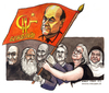Cartoon: Avanti popolo (small) by Niessen tagged italy,elections,politicians,bersani,dalema,bindi,stalin,comunism