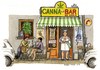 Cartoon: Canna Bar (small) by Niessen tagged drugs,canabis,mariuhana,italy,bar,caffee,maria,droga,fumo,smoke