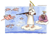 Cartoon: La caccia agli angeli (small) by Niessen tagged god,angel,gun,heaven,gott,engel,himmel,gewehr