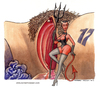Cartoon: La casa del diavolo (small) by Niessen tagged demon devil gate door heaven hell