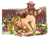 Cartoon: metamorfosi (small) by Niessen tagged nudo,donna,cibo,maiale,maniaco