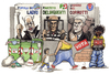Cartoon: Vota (small) by Niessen tagged alfano,bersani,casini,italy,votation,parlament