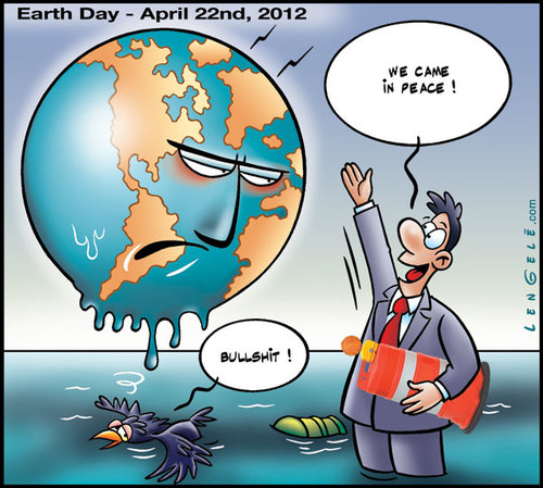 Cartoon: Earth Day 2012 (medium) by Carayboo tagged earth,day,april,22,nd,2012,nature,world,planet,ecology,save,economy,trade,human,ocean